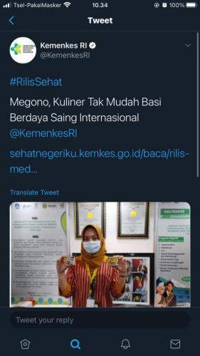 Twitter Kemenkes Tentang Sego Megono